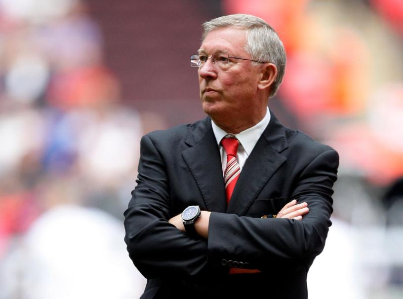 Former Manchester United boss and legend, Sir Alex Ferguson looks serious