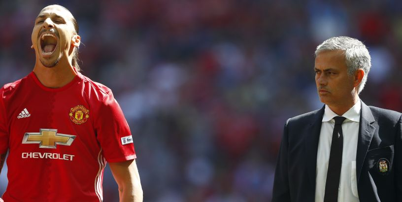 Manchester United boss Jose Mourinho and Zlatan Ibrahimovic