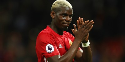 Manchester United's Paul Pogba applauds the Red Devils fans